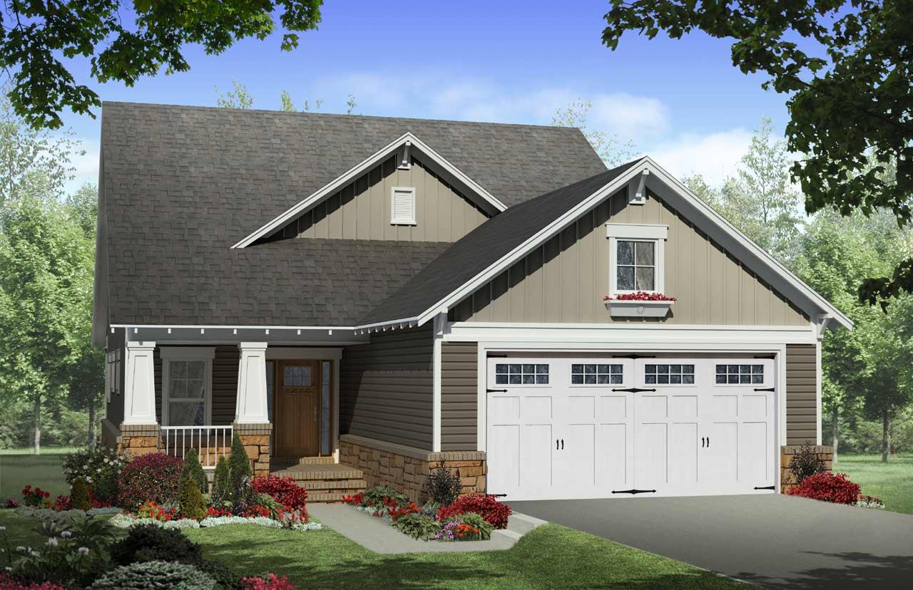 Craftsman Style Home Design Plan: 2-261