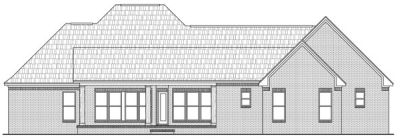 Rear Elevation Plan: 2-262