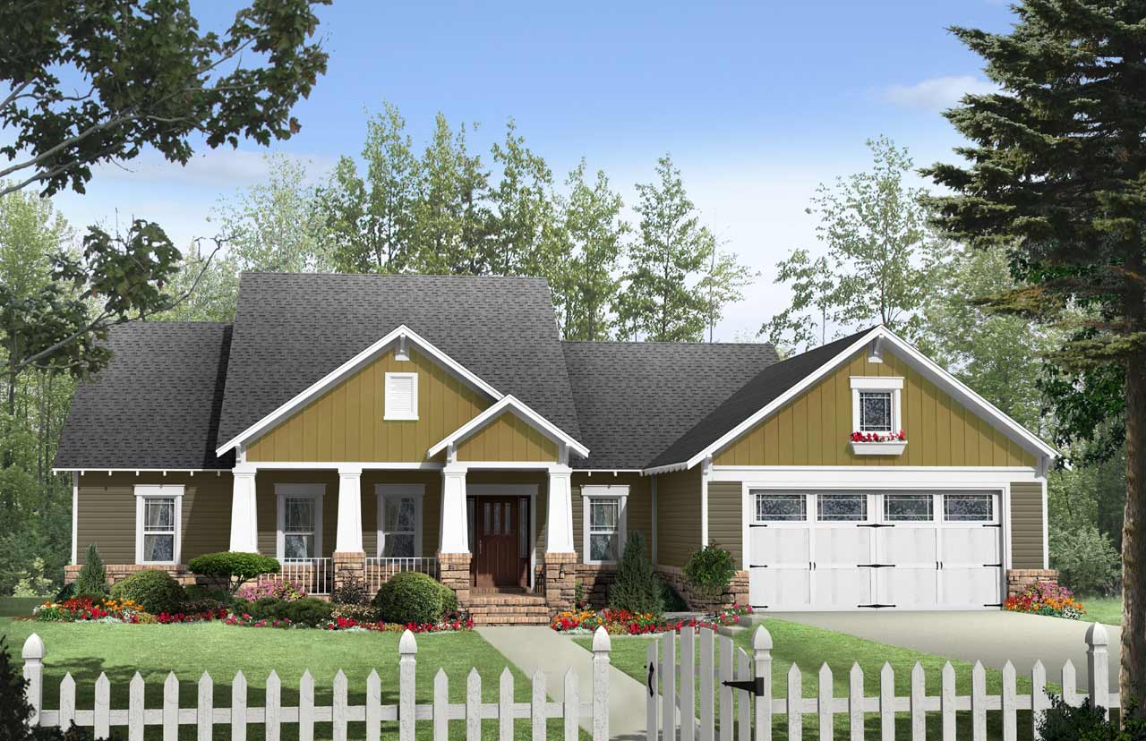 Craftsman Style Home Design Plan: 2-263