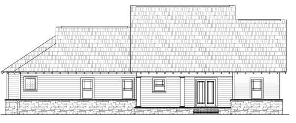 Rear Elevation Plan: 2-263