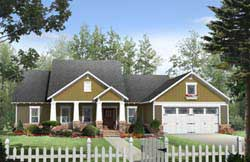 Craftsman Style Home Design Plan: 2-263