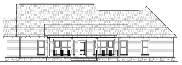 Rear Elevation Plan: 2-268