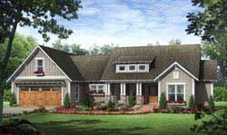 Craftsman Style Home Design Plan: 2-268