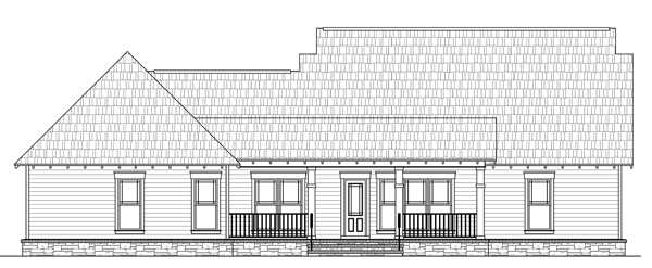 Rear Elevation Plan: 2-272