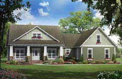 Craftsman Style Home Design Plan: 2-272