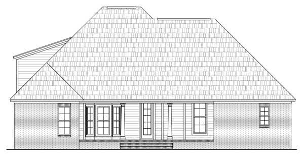 Rear Elevation Plan: 2-274