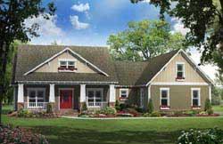 Craftsman Style Home Design Plan: 2-276
