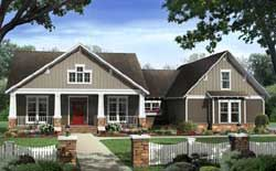 Craftsman Style House Plans 2-284