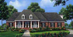 Southern Style Floor Plans Plan: 2-287