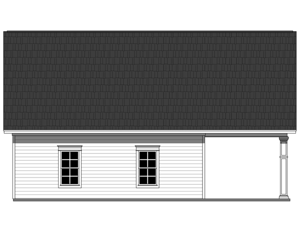 Rear Elevation Plan: 2-293