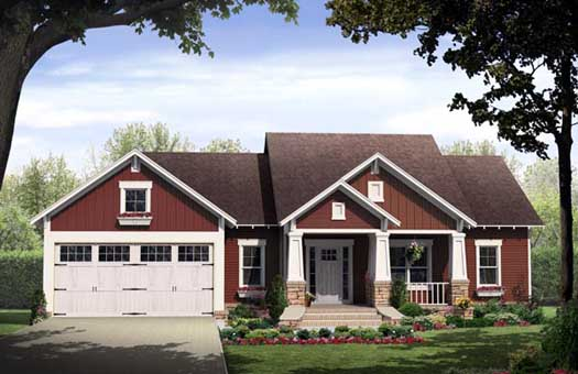 Craftsman Style Home Design 2-295