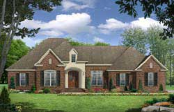European Style House Plans Plan: 2-297