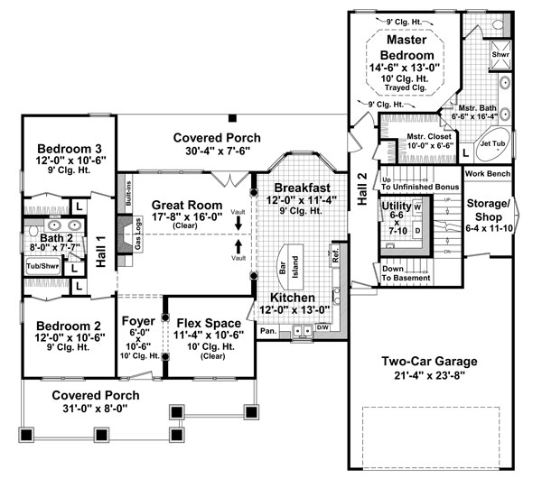 Main Floor Plan: 2-306