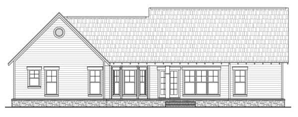 Rear Elevation Plan: 2-306