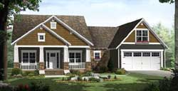 Craftsman Style Home Design Plan: 2-306