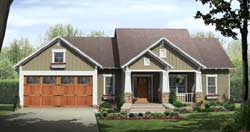 Craftsman Style Home Design Plan: 2-309