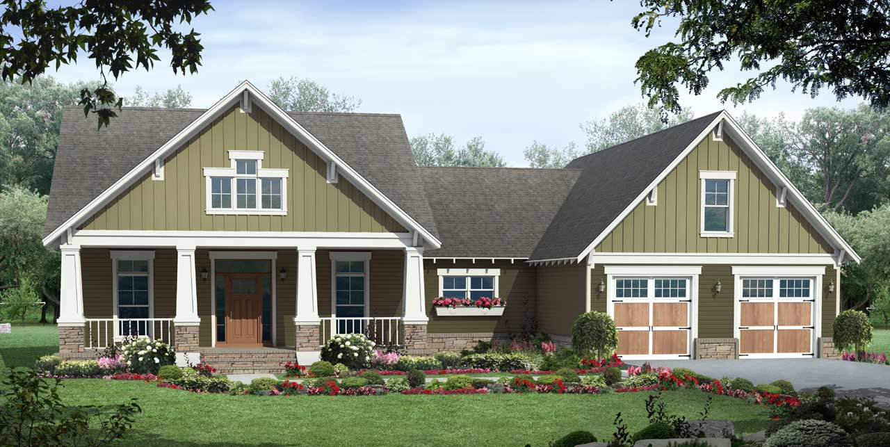 Craftsman Style House Plans Plan: 2-310