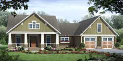 Craftsman Style Home Design Plan: 2-310
