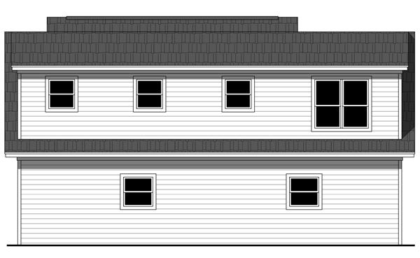 Rear Elevation Plan: 2-315