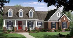 Craftsman Style Home Design Plan: 2-317