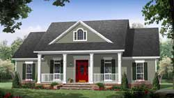Country Style Home Design Plan: 2-320