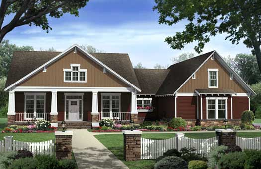 Craftsman Style Home Design Plan: 2-324