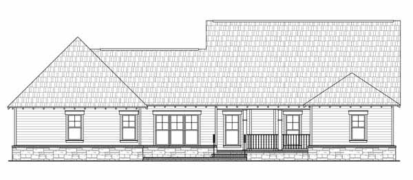 Rear Elevation Plan: 2-324