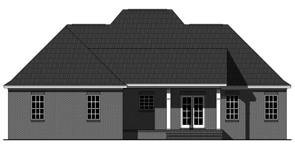 Rear Elevation Plan: 2-342
