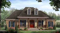 European Style House Plans Plan: 2-342