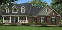 Country Style Floor Plans Plan: 2-349