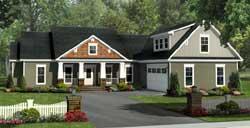Craftsman Style Floor Plans Plan: 2-353