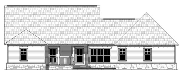 Rear Elevation Plan: 2-354