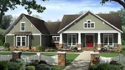 Craftsman Style Home Design Plan: 2-354