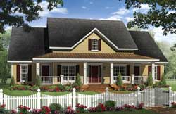 Farm Style Home Design Plan: 2-363