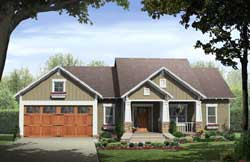 Craftsman Style Home Design Plan: 2-367