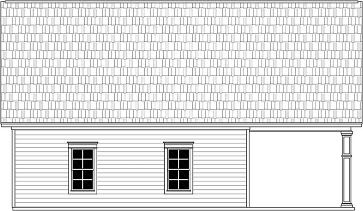 Rear Elevation Plan: 2-368
