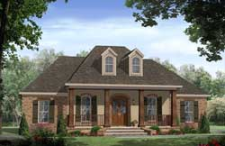 French-Country Style Floor Plans Plan: 2-371