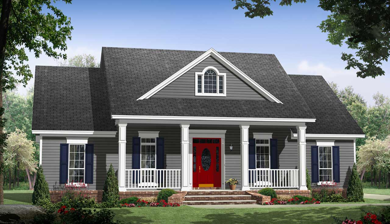 Country Style Floor Plans Plan: 2-378