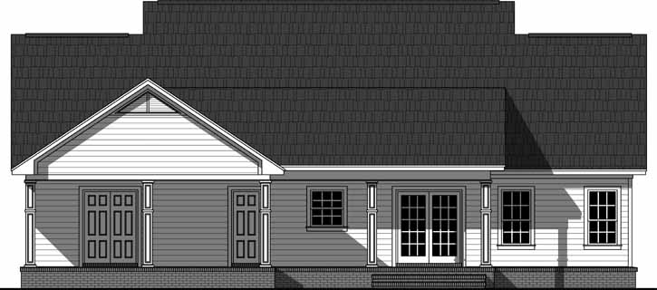 Rear Elevation Plan: 2-378