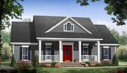 Country Style Home Design Plan: 2-378