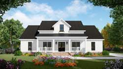 Country Style Home Design 2-387