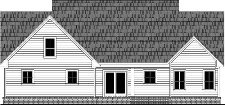 Rear Elevation Plan: 2-388