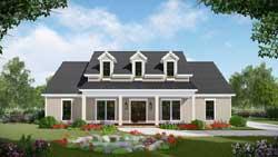 Modern-Farmhouse Style Home Design Plan: 2-390