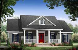 Country Style Home Design Plan: 2-394