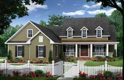Country Style Home Design Plan: 2-400