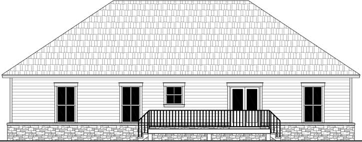 Rear Elevation Plan: 2-401