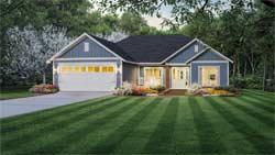 Craftsman Style Home Design Plan: 2-402
