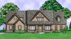 Craftsman Style Home Design Plan: 21-1004
