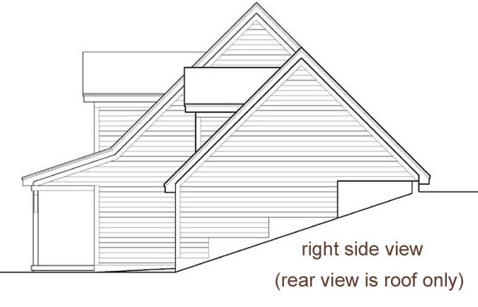 Rear Elevation Plan: 21-1010