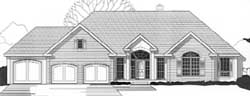 Traditional Style Home Design Plan: 21-1064